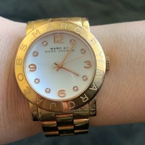 Accessories - Marc Jacobs rose gold watch w crystals